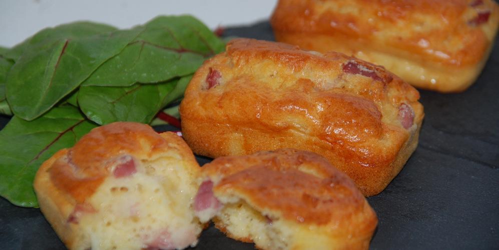 Minis cakes oignons lardons fromage
