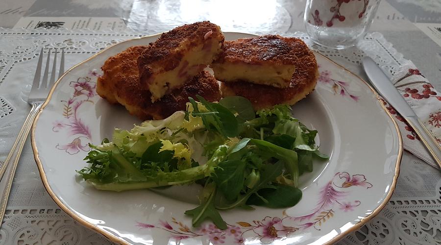 Croquettes de pommes de terre jambon et fromage