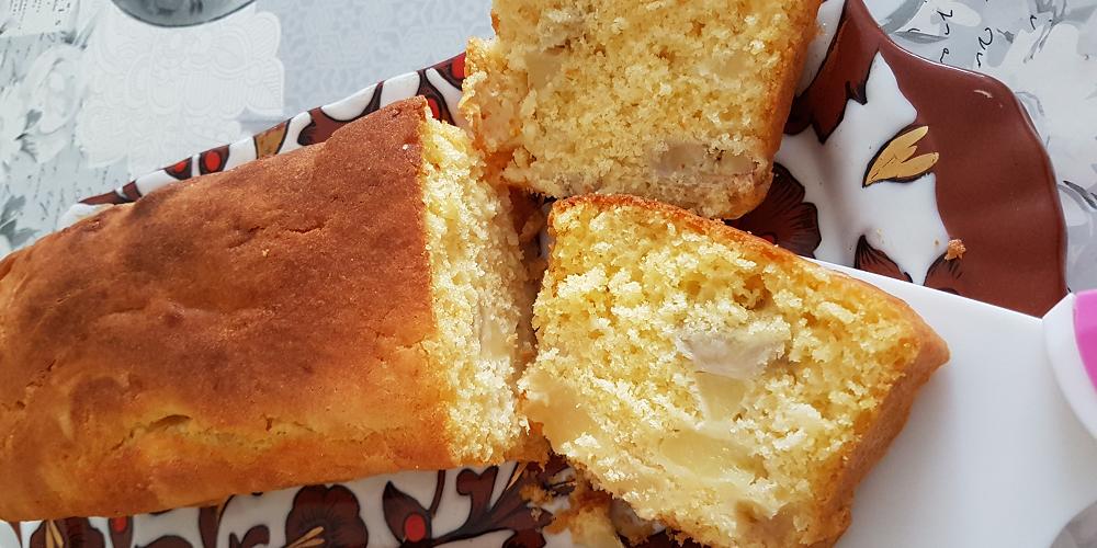 Cake moelleux pommes bananes