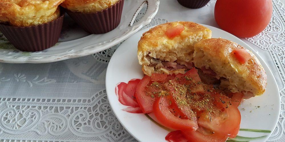Muffins au blé lardons et knackis
