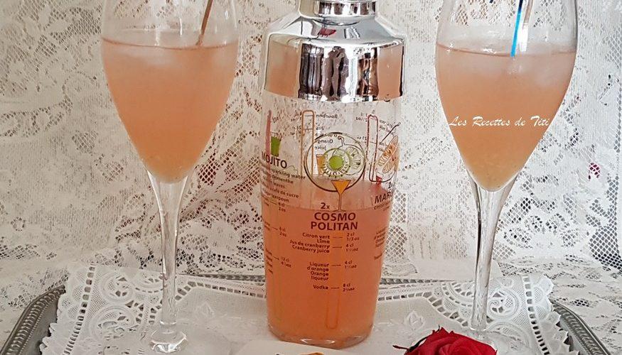 Cocktail sans alcool pastèque et gingembre