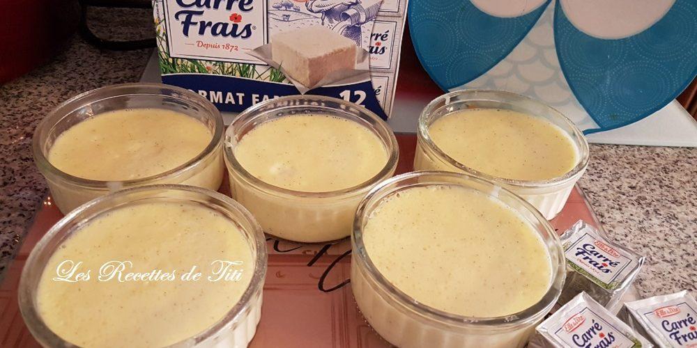 Crème dessert aux petits carrés frais Gervais