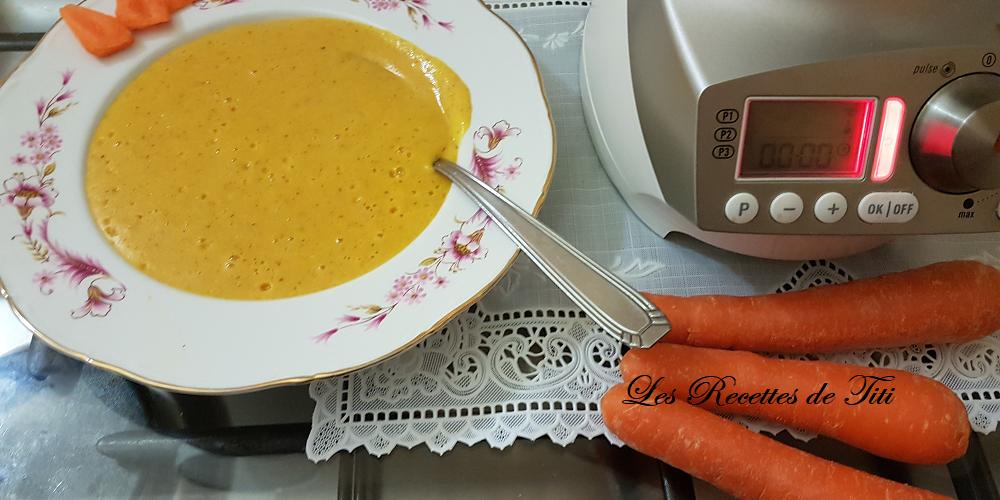Crème de carottes au Quinoa de Lucy