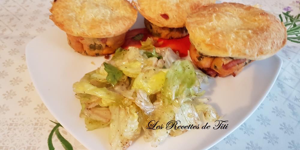 Muffins lardons et légumes