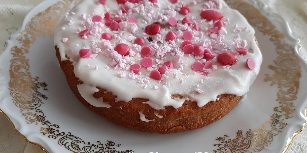 Gâteau marbré à la fraise fait maison