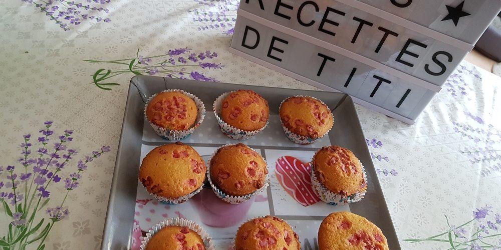 Muffins aux pépites choco fraise de Fouzia Rose