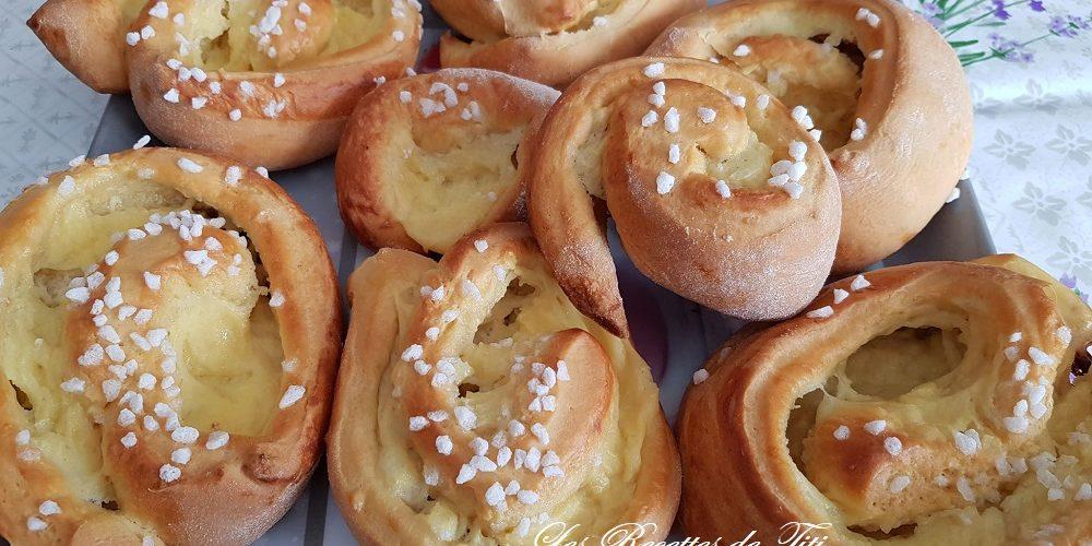 Escargots briochés et chinois à la crème pâtissière