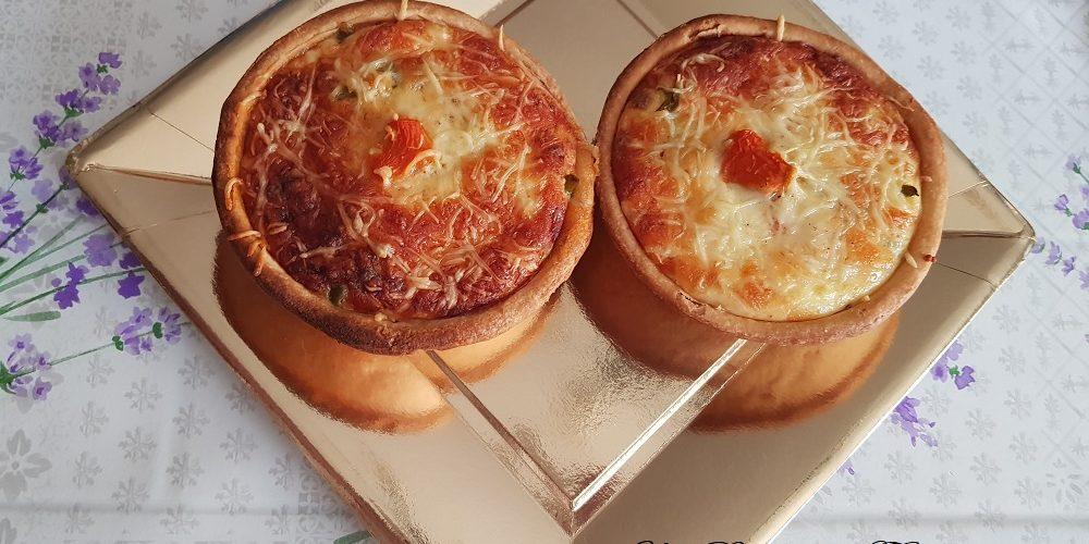 Quiche aux légumes chorizo et 3 fromages