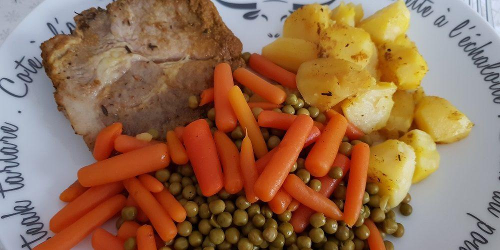 Côtelettes de porc colombo pommes de terre fondantes au Cookeo
