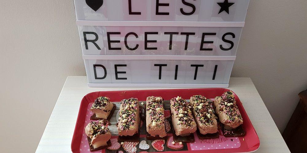Mini bûchettes choco-poire-spéculoos