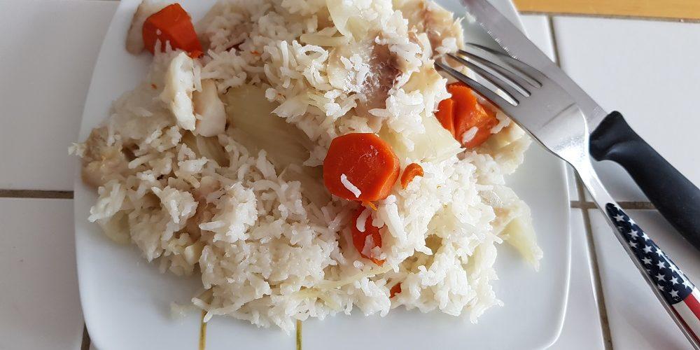 Riz, carottes, fenouils et merlan au Cookeo