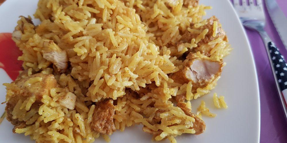 Riz basmati et poulet au curry au Cookeo