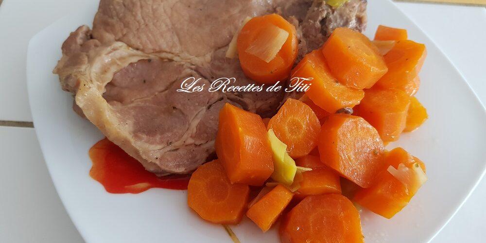 Côtes de porc carottes et poireau au Cookeo