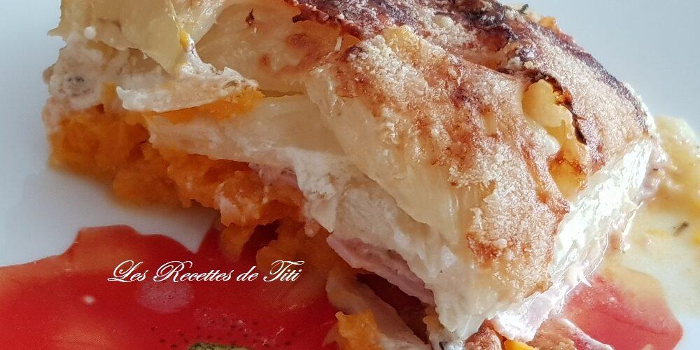 Gratin de patate douce et fenouils