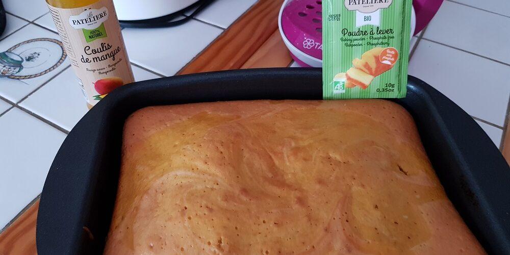 Gâteau marbré à la mangue