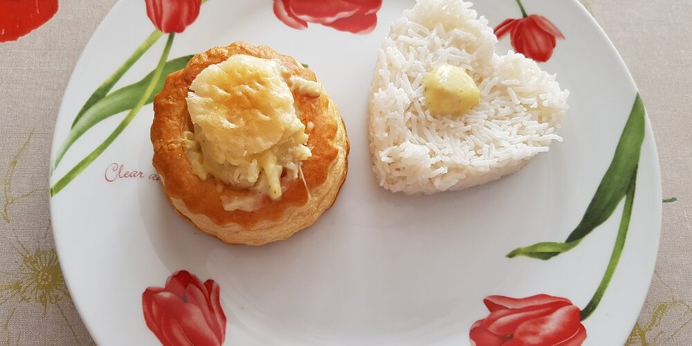 Vol au vent poulet béchamel au curry
