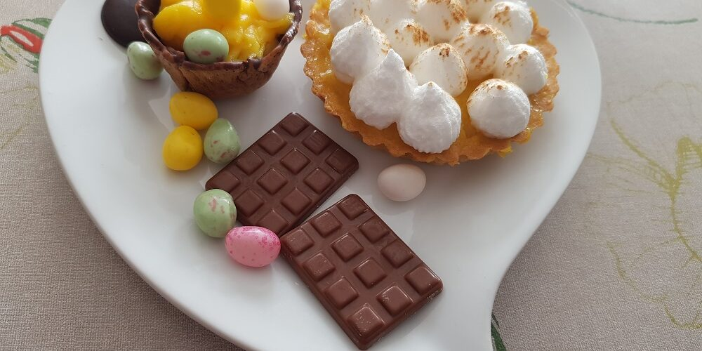 Tartelettes et mini coupelles orange curd spécial Pâques