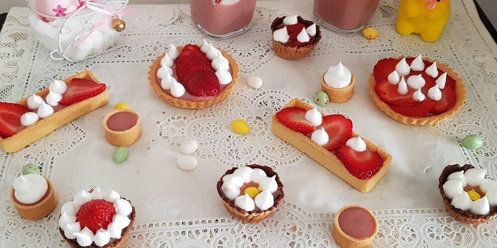 Mousse fraise et desserts gourmands