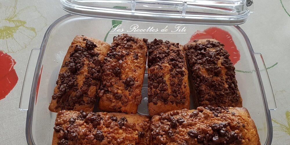 Petits cakes vanille chocolat