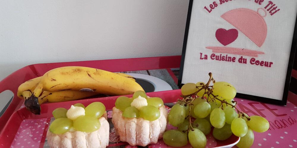 Mini charlottes banane raisin